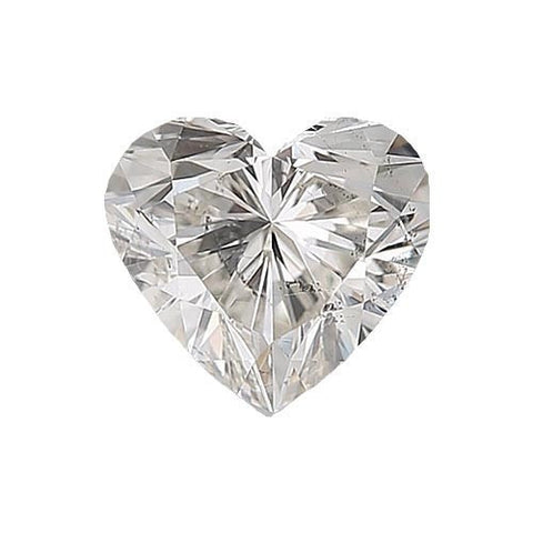 Loose Diamond 0.5 carat Heart Diamond - G/I1 Natural Excellent Cut - AIG Certified