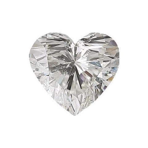 Loose Diamond 0.5 carat Heart Diamond - G/SI3 Natural Excellent Cut - AIG Certified