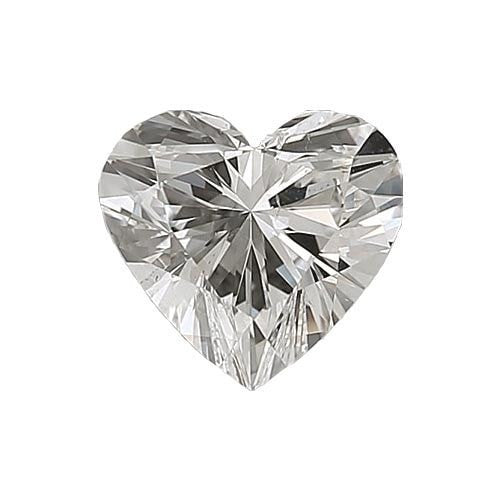 0.5 carat Heart Diamond - G/VS2 Natural Excellent Cut - TIG Certified - Custom Made
