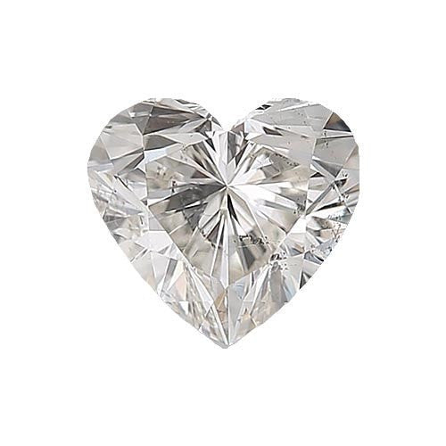 0.5 carat Heart Diamond - H/I1 Natural Excellent Cut - TIG Certified - Custom Made