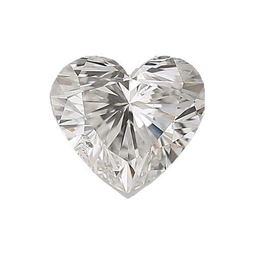 0.5 carat Heart Diamond - H/SI1 Natural Very Good Cut - TIG Certified - Custom Made