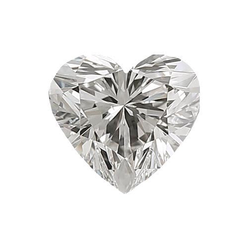 0.5 carat Heart Diamond - H/VS1 Natural Excellent Cut - TIG Certified - Custom Made