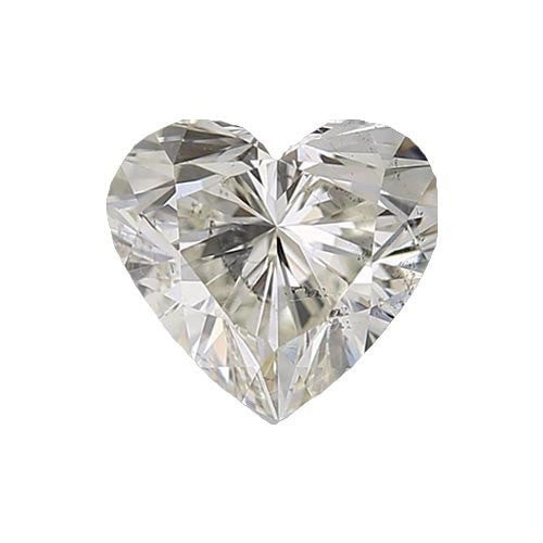 0.5 carat Heart Diamond - I/I1 Natural Excellent Cut - TIG Certified - Custom Made