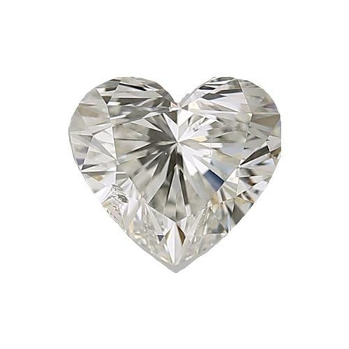 0.5 carat Heart Diamond - I/SI1 Natural Excellent Cut - TIG Certified - Custom Made