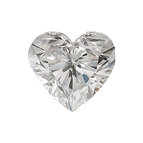 0.5 carat Heart Diamond - H/SI2 Natural Very Good Cut - TIG Certified - Custom Made