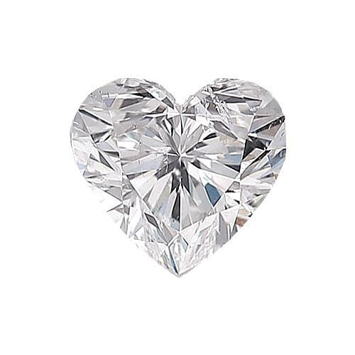 0.5 carat Heart Diamond - F/SI2 Natural Very Good Cut - TIG Certified - Custom Made