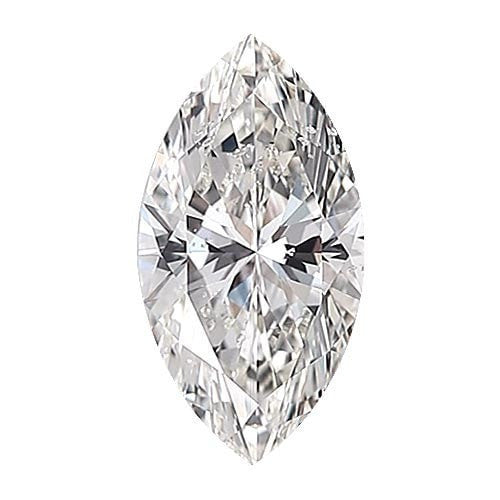 0.5 carat Marquise Diamond - D/SI3 Natural Excellent Cut - TIG Certified - Custom Made