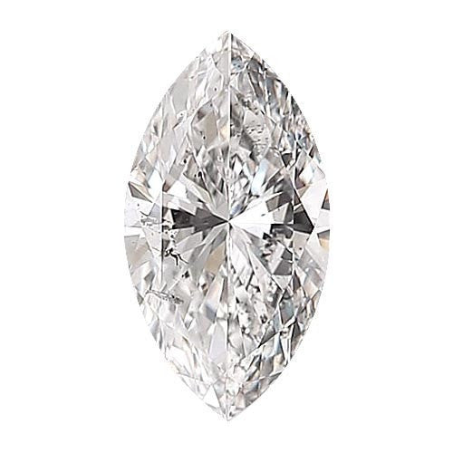 0.5 carat Marquise Diamond - D/I1 Natural Excellent Cut - TIG Certified - Custom Made