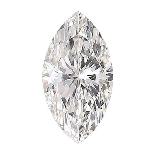 0.5 carat Marquise Diamond - D/VS2 Natural Very Good Cut - TIG Certified - Custom Made