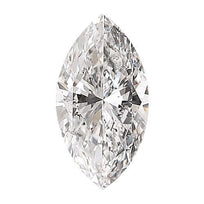 Loose Diamond 0.5 carat Marquise Diamond - E/I1 Natural Excellent Cut - AIG Certified
