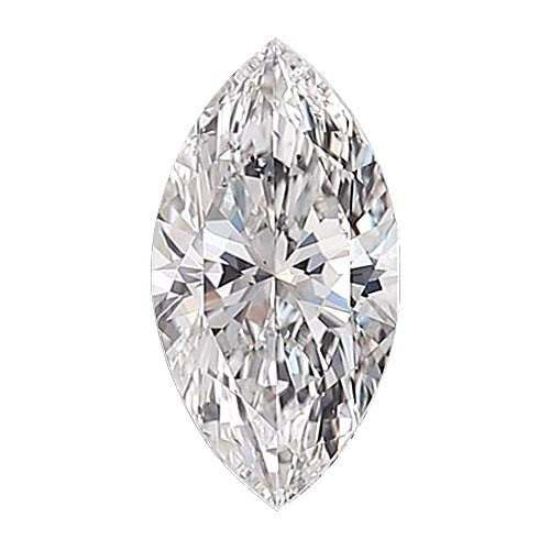 0.5 carat Marquise Diamond - E/SI1 Natural Excellent Cut - TIG Certified - Custom Made