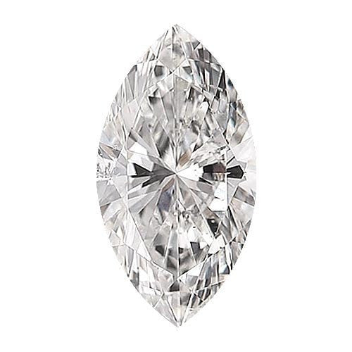 0.5 carat Marquise Diamond - E/SI2 Natural Very Good Cut - TIG Certified - Custom Made