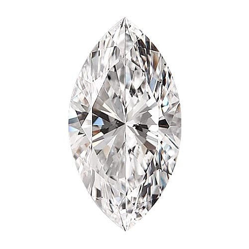 0.5 carat Marquise Diamond - E/VS1 Natural Very Good Cut - TIG Certified - Custom Made