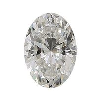 Loose Diamond 0.5 carat Oval Cut Diamond - J/SI2 Natural Excellent Cut - AIG Certified