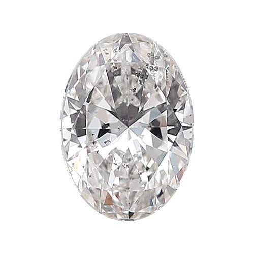 0.5 carat Oval Diamond - D/I1 Natural Excellent Cut - TIG Certified - Custom Made