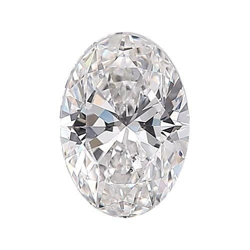 0.5 carat Oval Diamond - D/SI1 Natural Excellent Cut - TIG Certified - Custom Made