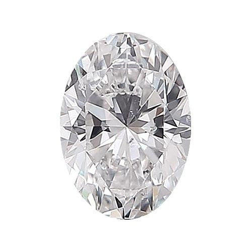 0.5 carat Oval Diamond - D/SI2 Natural Excellent Cut - TIG Certified - Custom Made
