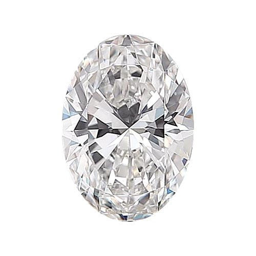 0.5 carat Oval Diamond - D/VS1 Natural Very Good Cut - TIG Certified - Custom Made