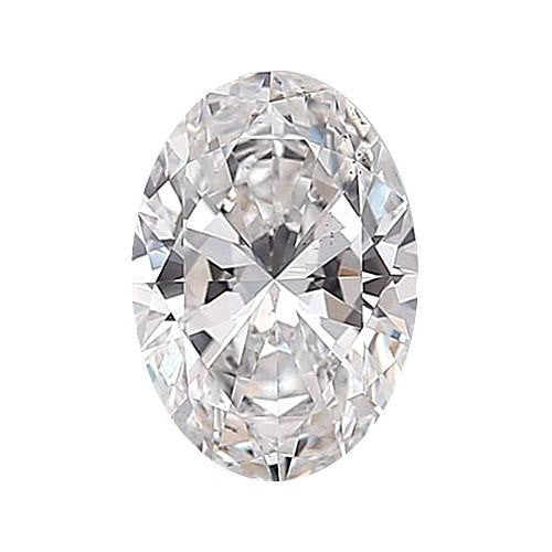 0.5 carat Oval Diamond - D/VS2 Natural Excellent Cut - TIG Certified - Custom Made