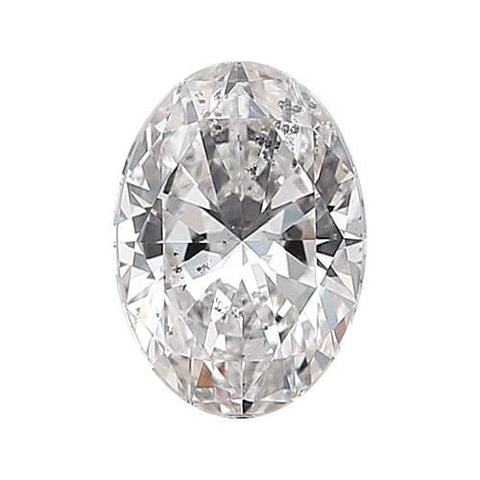 Loose Diamond 0.5 carat Oval Diamond - E/I1 Natural Excellent Cut - AIG Certified