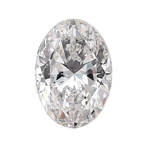 Loose Diamond 0.5 carat Oval Diamond - F/I1 Natural Excellent Cut - AIG Certified