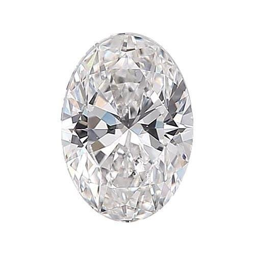 0.5 carat Oval Diamond - F/SI1 Natural Excellent Cut - TIG Certified - Custom Made