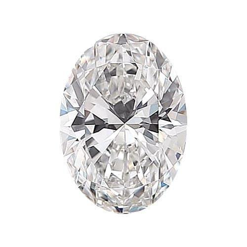 0.5 carat Oval Diamond - F/VS1 Natural Excellent Cut - TIG Certified - Custom Made
