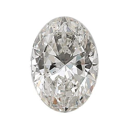 Loose Diamond 0.5 carat Oval Diamond - G/I1 Natural Excellent Cut - AIG Certified