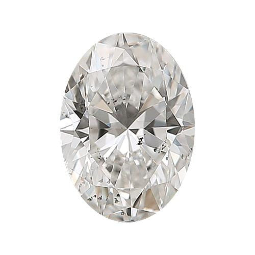 0.5 carat Oval Diamond - H/SI3 Natural Very Good Cut - TIG Certified - Custom Made
