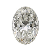 Loose Diamond 0.5 carat Oval Diamond - I/I1 Natural Excellent Cut - AIG Certified