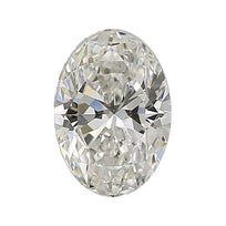 Loose Diamond 0.5 carat Oval Diamond - I/SI1 Natural Excellent Cut - AIG Certified