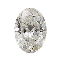 Loose Diamond 0.5 carat Oval Diamond - I/SI3 Natural Excellent Cut - AIG Certified