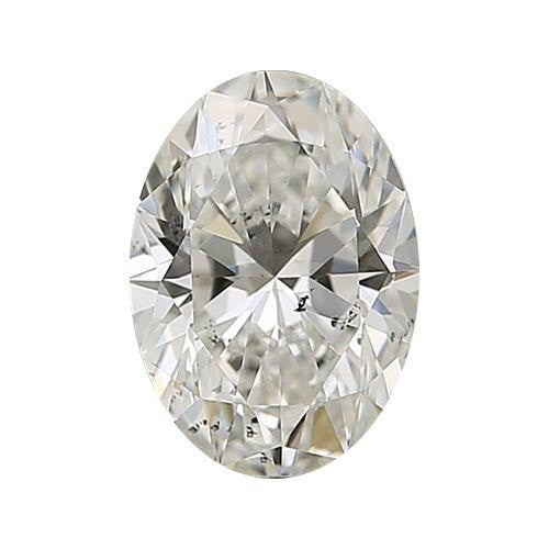 Loose Diamond 0.5 carat Oval Diamond - J/SI3 Natural Very Good Cut - AIG Certified