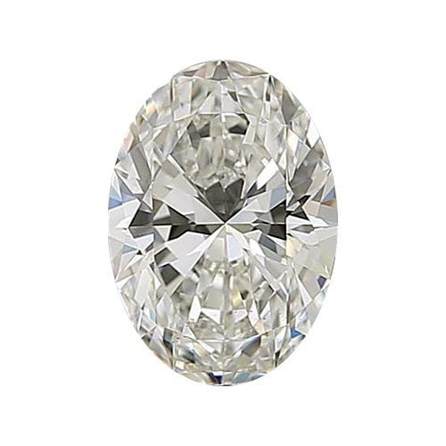 0.5 carat Oval Diamond - J/VS1 Natural Excellent Cut - TIG Certified - Custom Made