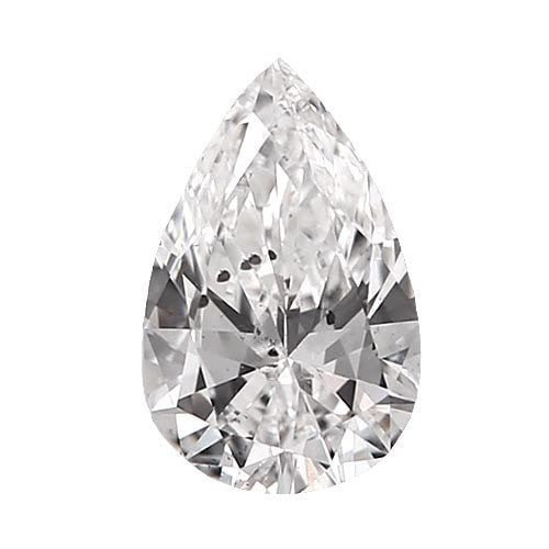 0.5 carat Pear Diamond - D/I1 CE Very Good Cut - TIG Certified - Custom Made