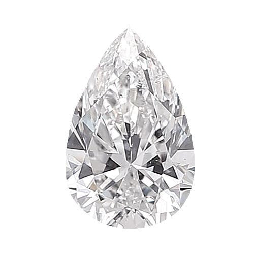0.5 carat Pear Diamond - E/SI1 CE Very Good Cut - TIG Certified - Custom Made