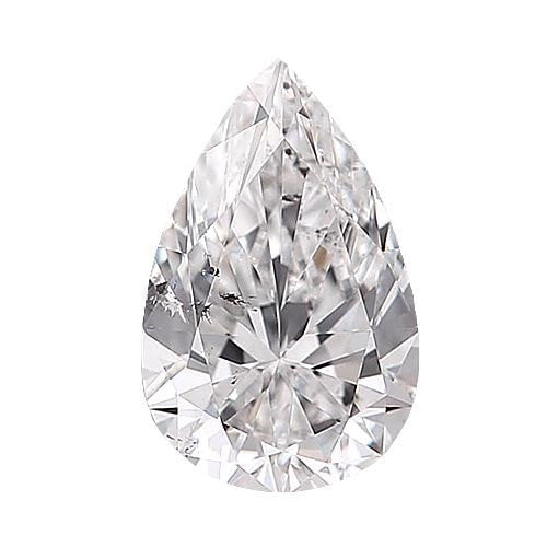 0.5 carat Pear Diamond - E/SI2 CE Very Good Cut - TIG Certified - Custom Made