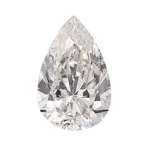 Loose Diamond 0.5 carat Pear Diamond - E/SI3 Natural Excellent Cut - AIG Certified