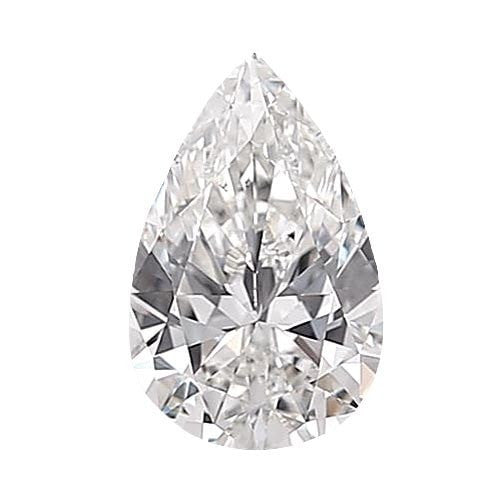 0.5 carat Pear Diamond - E/VS2 CE Very Good Cut - TIG Certified - Custom Made