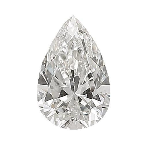 0.5 carat Pear Diamond - G/SI1 CE Excellent Cut - TIG Certified - Custom Made