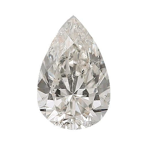0.5 carat Pear Diamond - G/SI3 CE Excellent Cut - TIG Certified - Custom Made