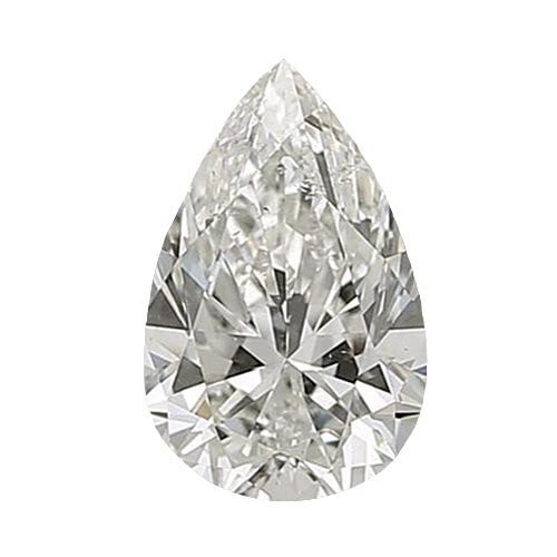 0.5 carat Pear Diamond - J/SI1 CE Excellent Cut - TIG Certified - Custom Made