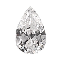 Loose Diamond 0.5 carat Pear Diamonds - D/I1 Natural Very Good Cut - AIG Certified