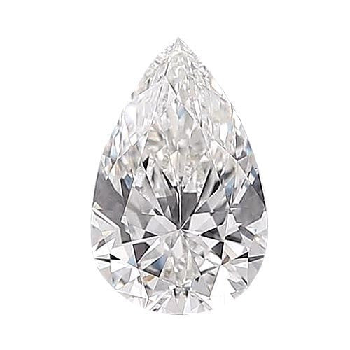0.5 carat Pear Diamond - E/VS1 CE Very Good Cut - TIG Certified - Custom Made