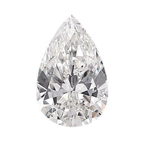 Loose Diamond 0.5 carat Pear Shaped Diamond - D/VS2 Natural Excellent Cut - AIG Certified