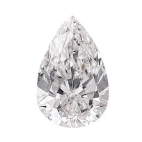 Loose Diamond 0.5 carat Pear Shaped Diamonds - D/SI2 Natural Very Good Cut - AIG Certified