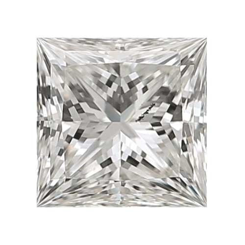 0.5 carat Princess Diamond - H/I1 CE Very Good Cut - TIG Certified - Custom Made