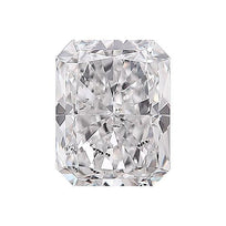 Loose Diamond 0.5 carat Radiant Cut Diamond - D/I1 Natural Excellent Cut - AIG Certified