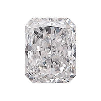 Loose Diamond 0.5 carat Radiant Diamond - D/SI3 Natural Excellent Cut - AIG Certified