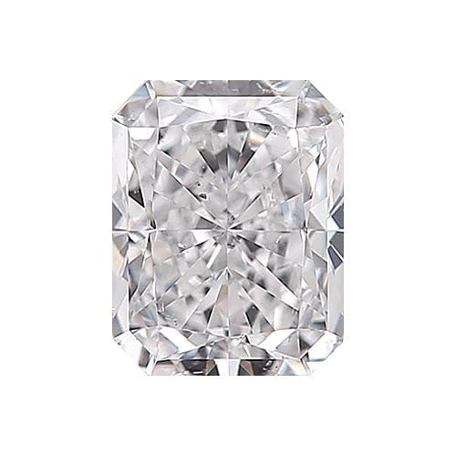 0.5 carat Radiant Diamond - E/SI1 Natural Very Good Cut - TIG Certified - Custom Made